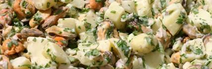 aardappelsalade met mosselen