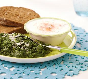 Spinazie-kaas-yoghurt